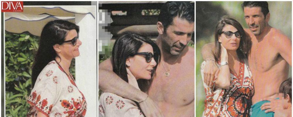 Ilaria D'Amico e Gigi Buffon, in vacanza col pancione
