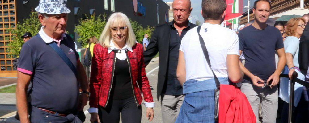Raffaella Carrà con Sergio Japino sbarca all'Expo di Milano