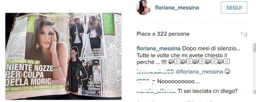 Floriana Messina, ex Grande Fratello 12, rivela: l'addio a Diego colpa di Nina Moric