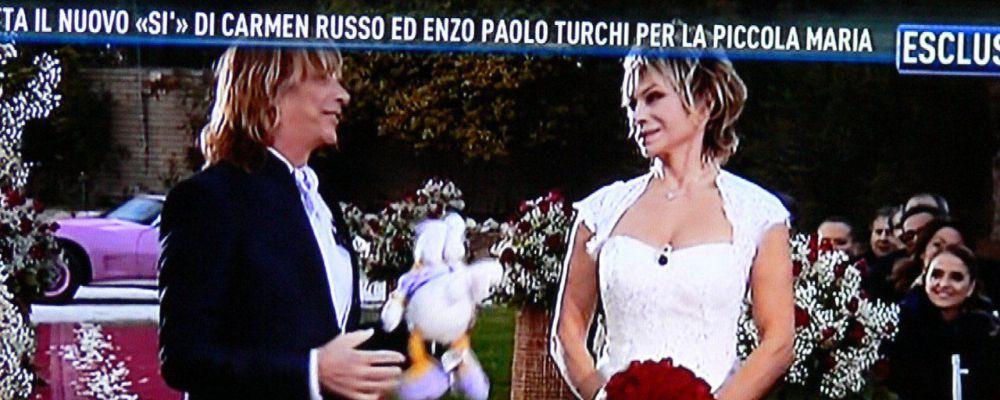 Carmen Russo e Enzo Paolo Turchi, le nozze bis da Barbara d'Urso