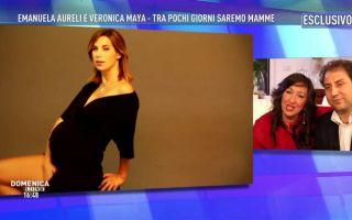 Veronica Maya, sexy al nono mese di gravidanza nelle foto di Domenica Live