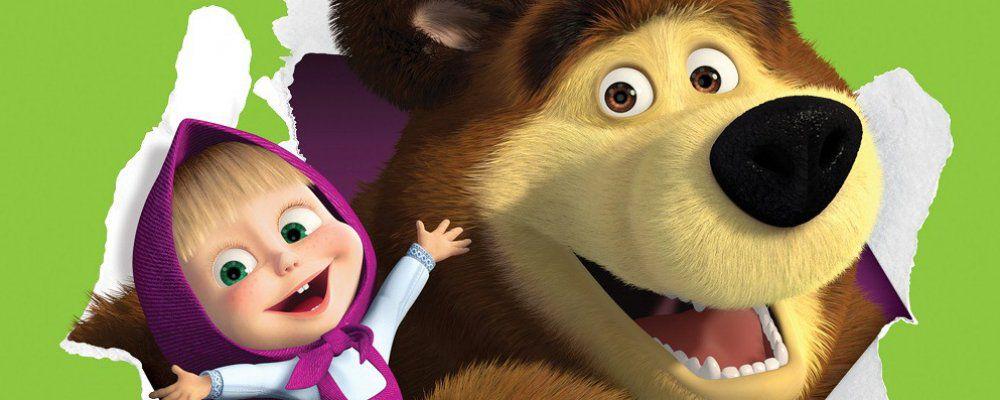Masha e orso personaggi cartoni animati tv pupazzi cm con