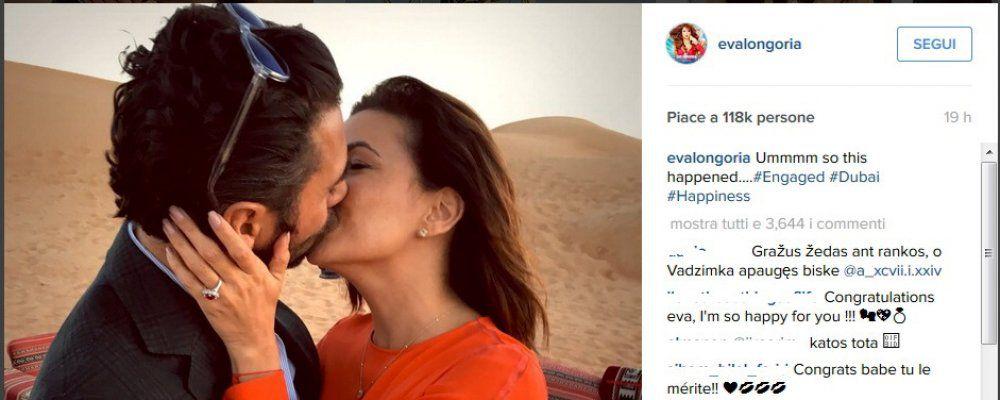 Eva Longoria sceglie Dubai per il fidanzamento con Jose Antonio Baston