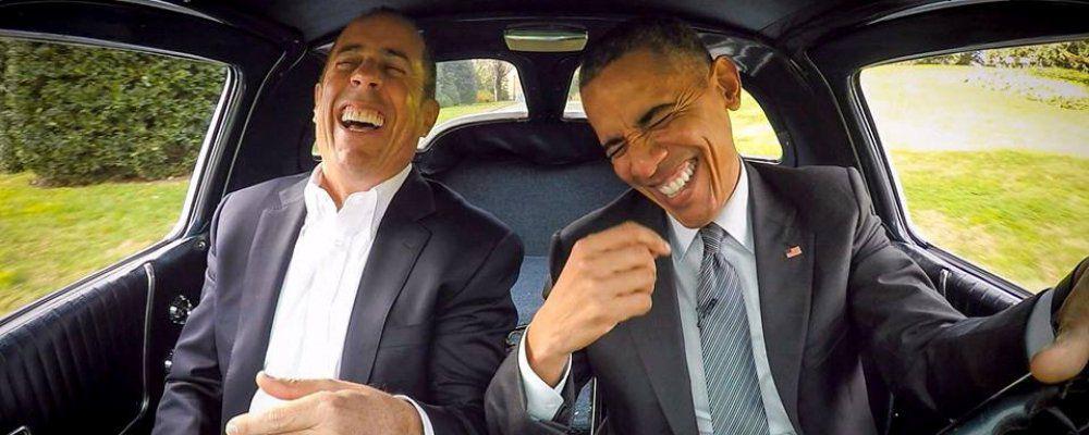 Barack Obama e il comico Jerry Seinfeld chiaccherano di abiti, rasatura della barba e guacamole