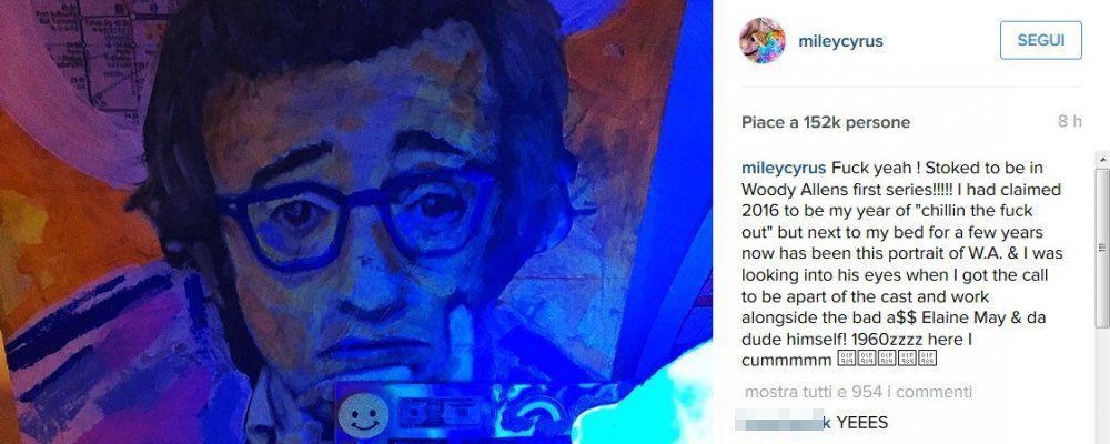 Woody Allen ha una nuova musa Miley Cyrus per la sua serie tv. Lei: 'E ora zitti tutti'