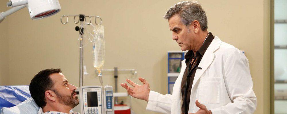 George Clooney di nuovo il dottor Ross di E.R. con il dottor House