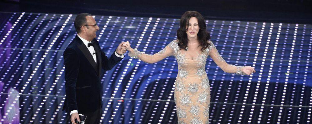 Sanremo 2016, Virginia Raffaele imita Sabrina Ferilli e prende in giro Carlo Conti