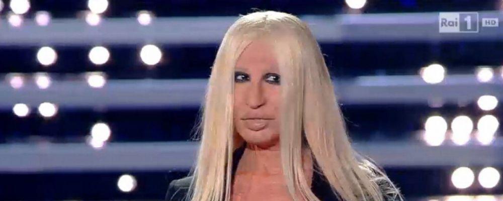 Sanremo 2016, la risposta di Donatella Versace a Virginia Raffaele: 'Fammi da controfigura'