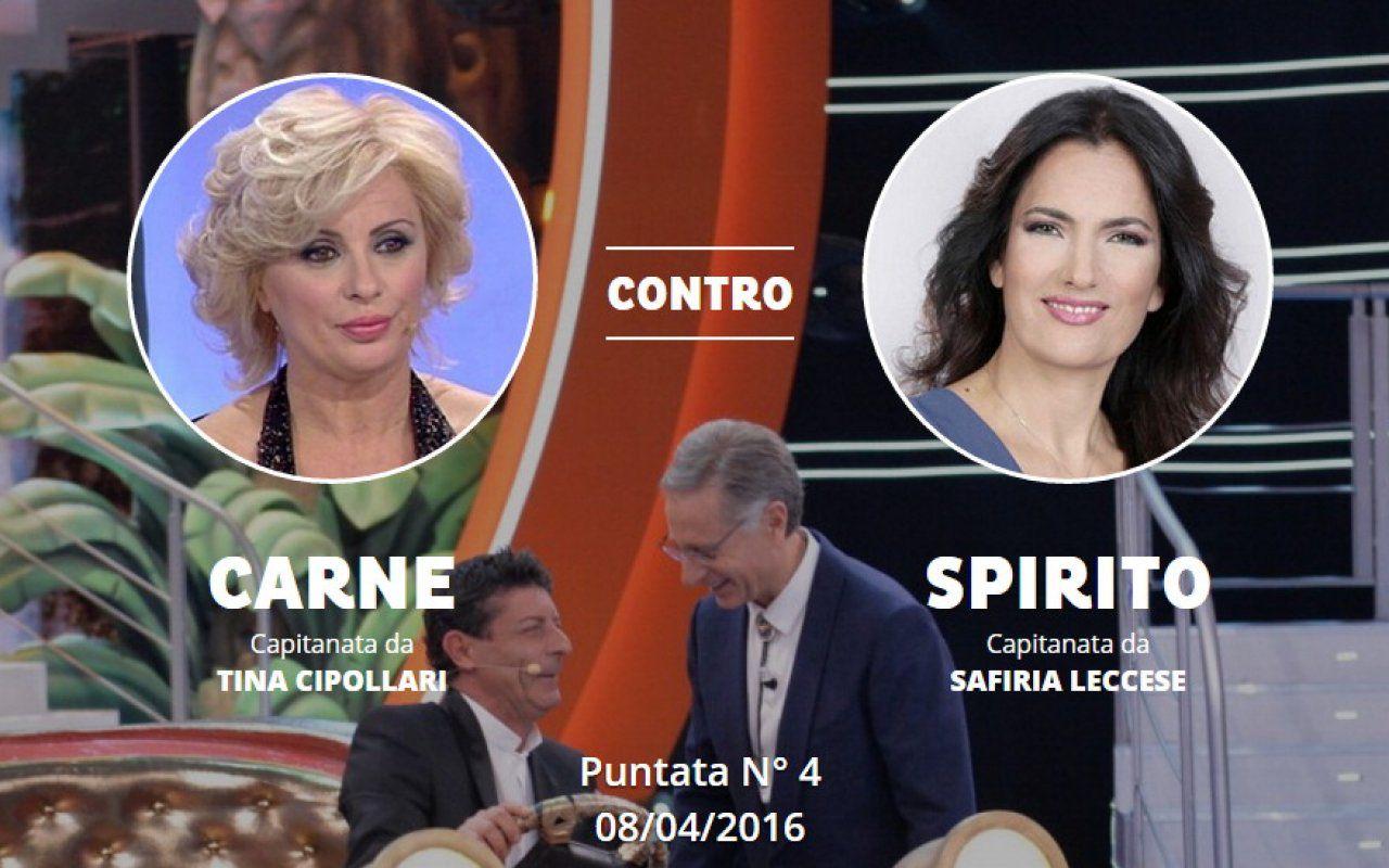 Ciao darwin 7 il momento di tina cipollari nella quarta puntata sfida safiria leccese tvzap - Ciao darwin 7 normali vs diversi ...