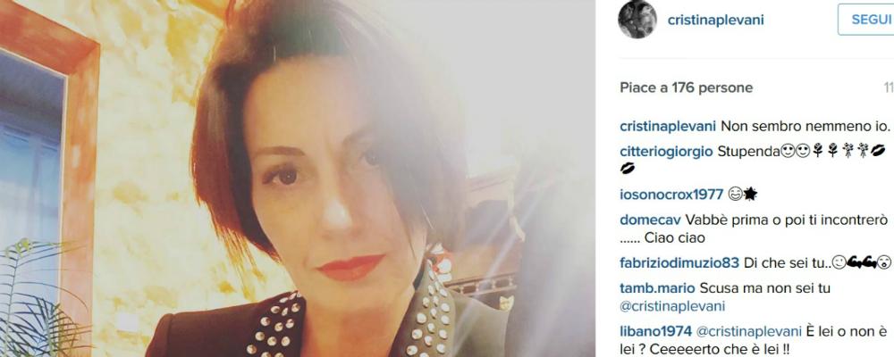 Il nuovo look di Cristina Plevani: 'Non sembro nemmeno io'
