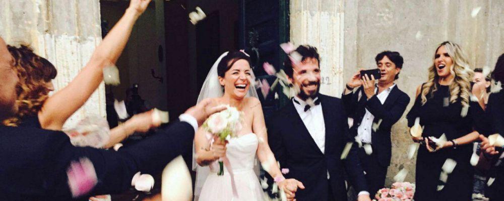 Francesco Montanari e Andrea Delogu, nozze in chiesa dopo il sì in Comune