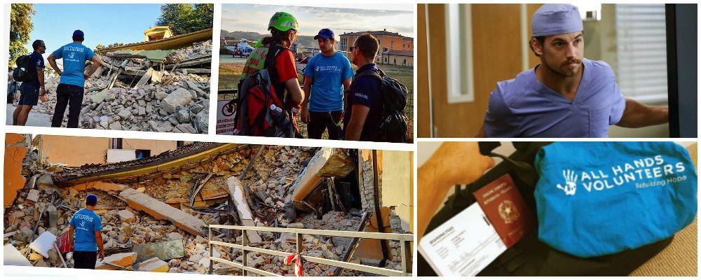 Giacomo Gianniotti, da Grey's Anatomy ad Amatrice per aiutare nel post terremoto