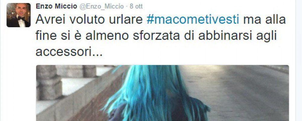 Enzo Miccio, la critica ai capelli blu è un boomerang