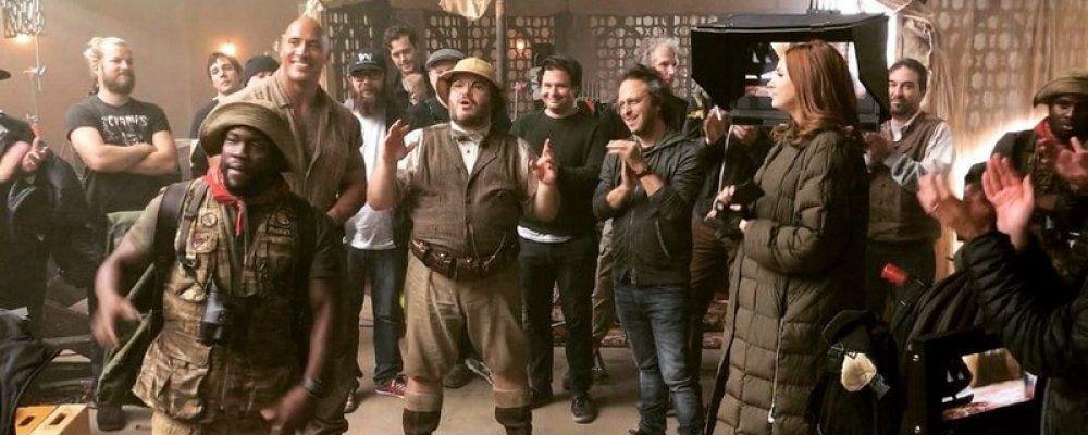 Jumanji 2, per The Rock e Jack Black riprese finite nel ricordo di Robin Williams