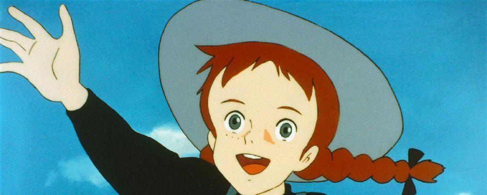 Ritratto di ragazza dai capelli rossi stile cartone animato