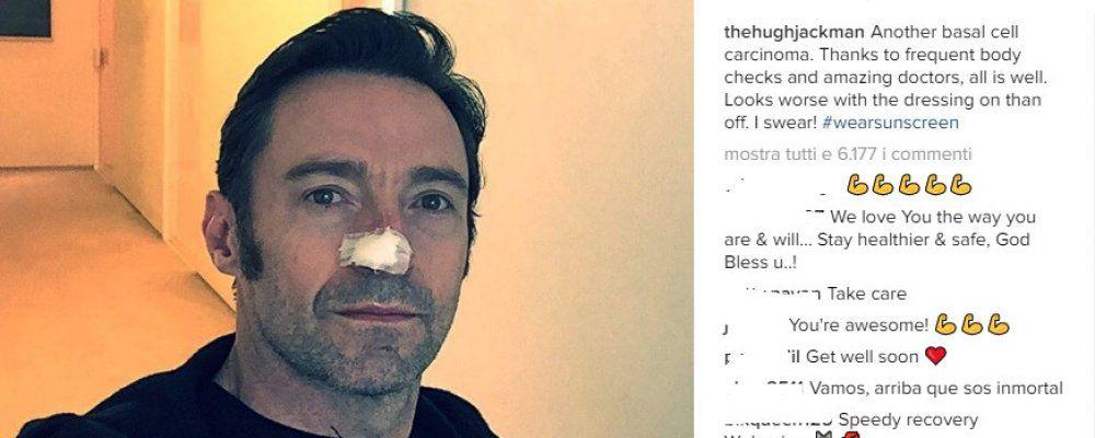 Hugh Jackman, di nuovo un cancro alla pelle per Wolverine