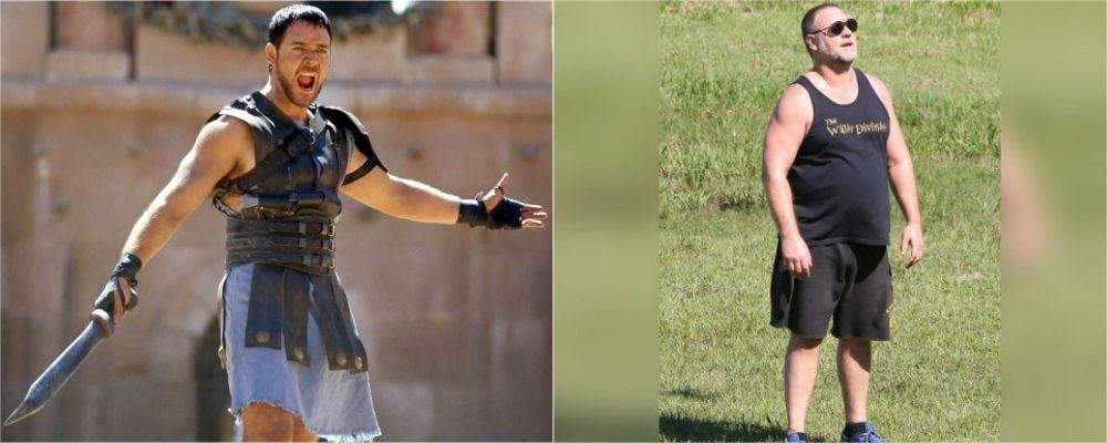 Russell Crowe sovrappeso: è irriconoscibile ma risponde per le rime alle critiche