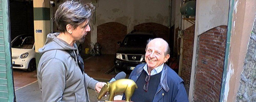 Striscia la notizia, Tapiro d'oro a Giancarlo Magalli dopo la lite con la Volpe