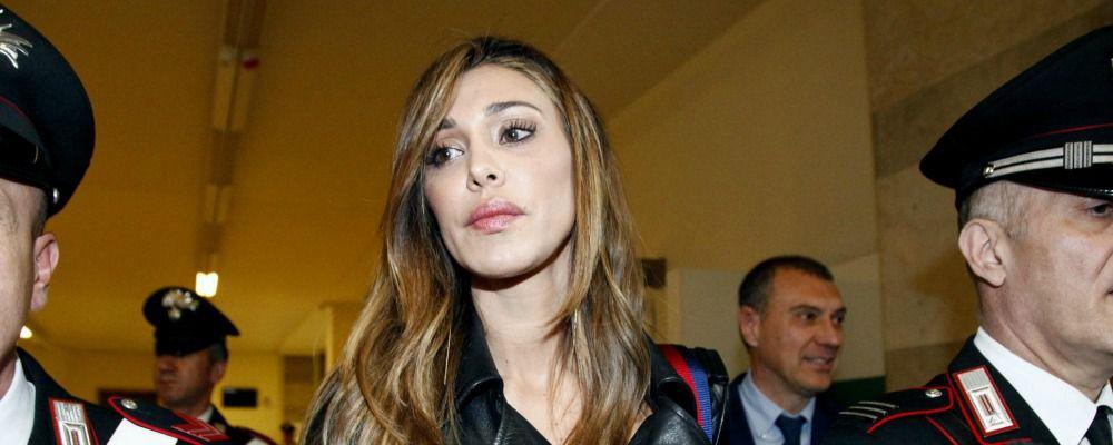 Belen Rodriguez al processo Corona: 'Con Fabrizio eravamo una coppia esplosiva'