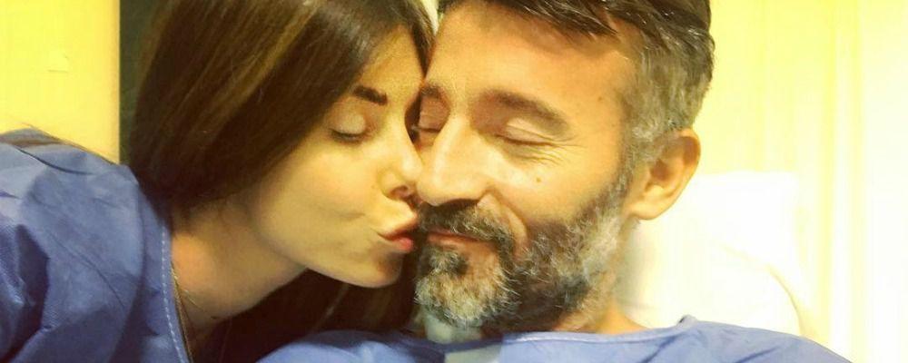 Max Biaggi, il bacio di Bianca Atzei: 'Buon compleanno amore mio'