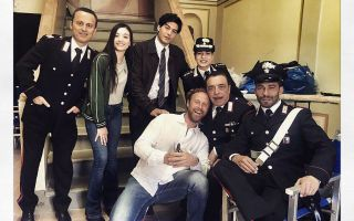 Don Matteo 11, la new entry Maria Chiara Giannetta sul set della fiction con Terence Hill