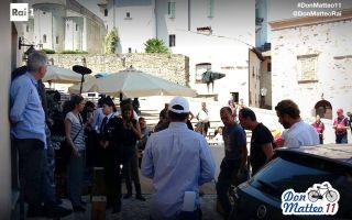 Don Matteo 11, la new entry Maria Chiara Giannetta sul set della fiction con Terence Hill