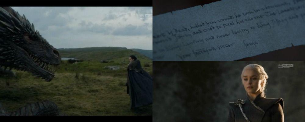Game of Thrones 7, quinta puntata: la legittimità di Jon Snow e il testo del messaggio di Sansa