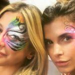 Elisabetta Canalis e Maddalena Corvaglia insieme per il compleanno delle figlie