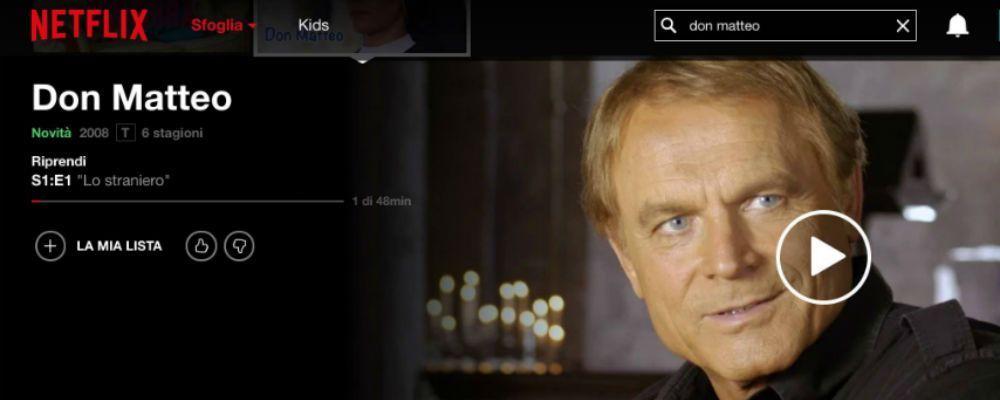 Don Matteo approda su Netflix con le prime sei stagioni