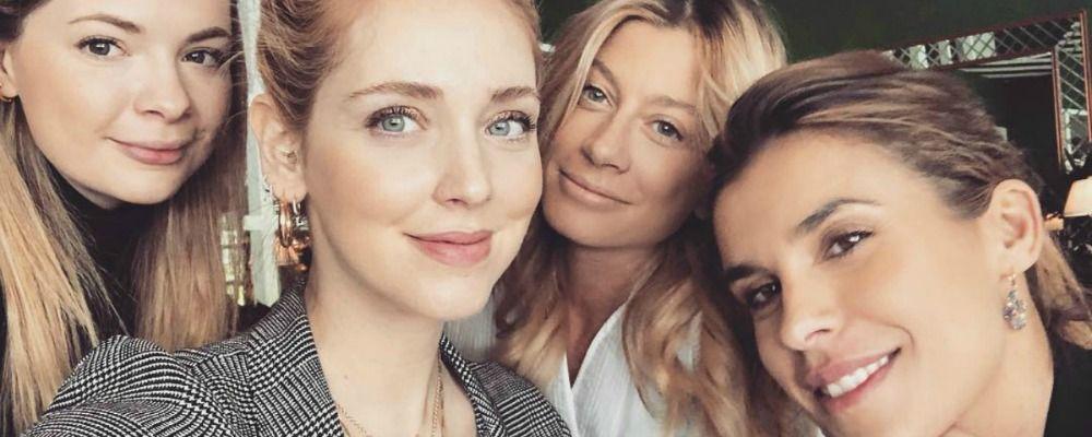 Chiara Ferragni, brunch a Los Angeles con Elisabetta Canalis e Maddalena Corvaglia