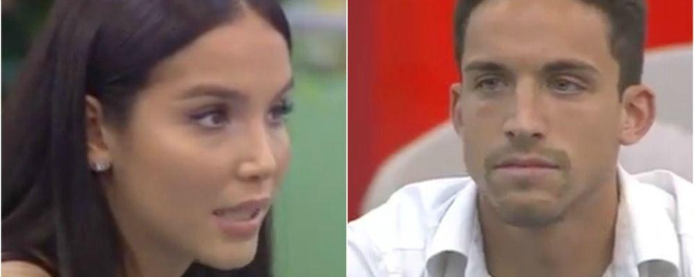 Grande Fratello nip 2018, il confronto tra Paola Di Benedetto e Matteo Gentili