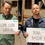 Breaking Bad, video-reunion tra Bryan Cranston e Aaron Paul per beneficenza