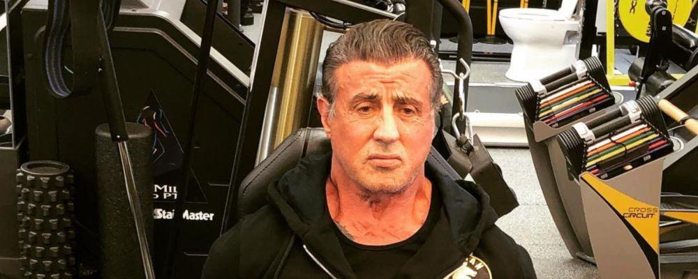 Sylvester Stallone di nuovo in palestra: allenamento massacrante prima di Rambo V