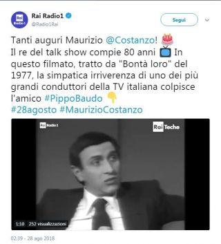 Maurizio Costanzo, gli auguri social per i suoi 80 anni