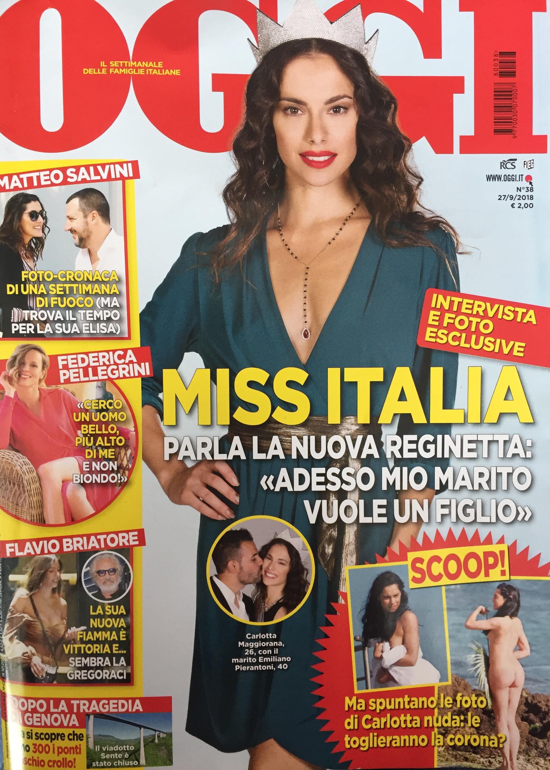 Calendario Senza Veli 2018.Miss Italia 2018 Carlotta Maggiorana A Rischio Il Titolo