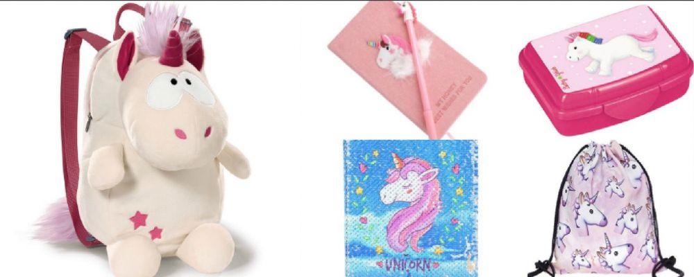 Ritorno a scuola sì, ma con l'unicorno: diari, zaini, penne e astucci