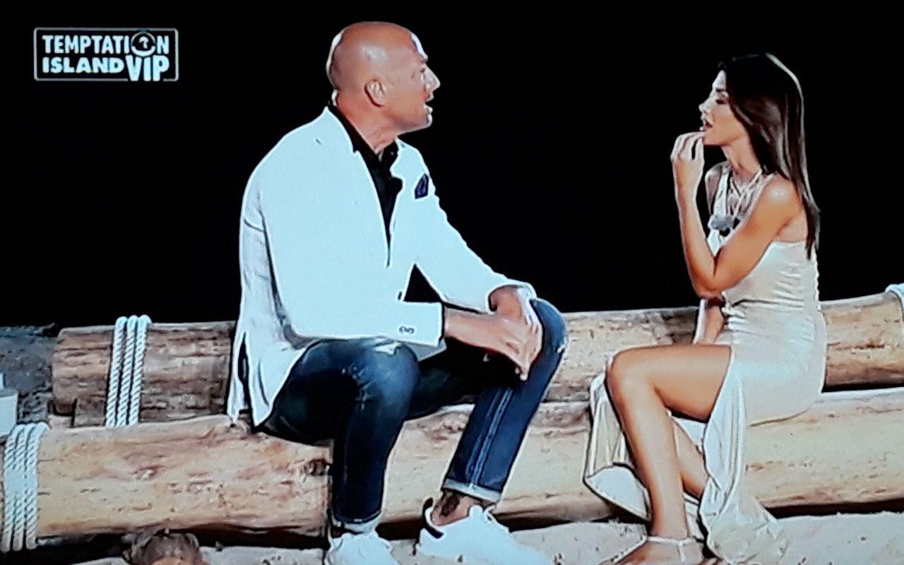 Temptation Island Vip, seconda puntata: il falò di Stefano e Nicoletta con Simona