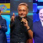 Paolo Bonolis, Gerry Scotti ed Ezio Greggio tutti insieme sul palco per Le Grand Tralala