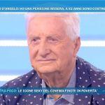 Gianfranco D'Angelo a Domenica Live: 'Prendo duemila euro di pensione, sono pochini'