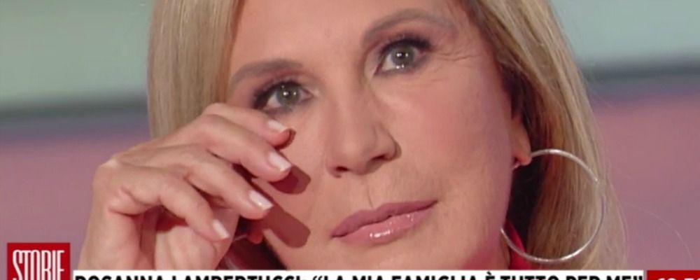Storie italiane, Rosanna Lambertucci in lacrime per l'ex marito: 'L'ho capito tardi'