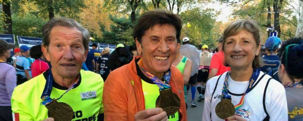Gianni Morandi alla Maratona di New York: 'Ce l'ho fatta ho preso la medaglia'