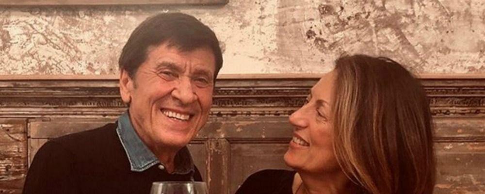 Gianni Morandi, brindisi con Anna per il compleanno