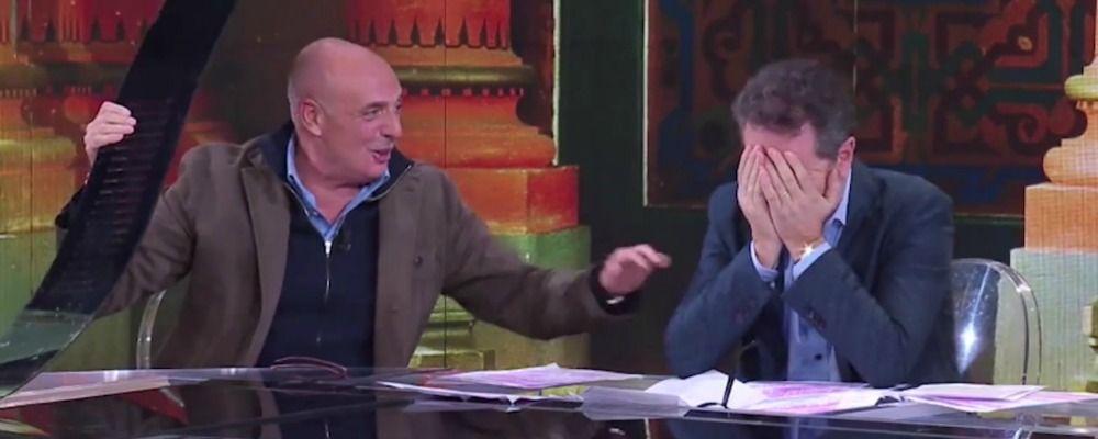 Che tempo che fa, Paolo Brosio distrugge il tavolo con una manata