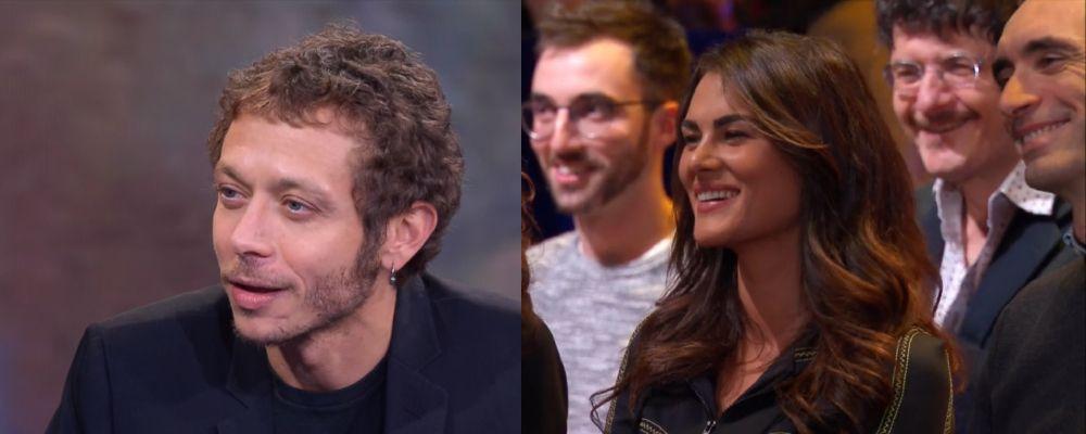 Valentino Rossi a Che tempo che fa con Francesca Sofia Novello nel pubblico