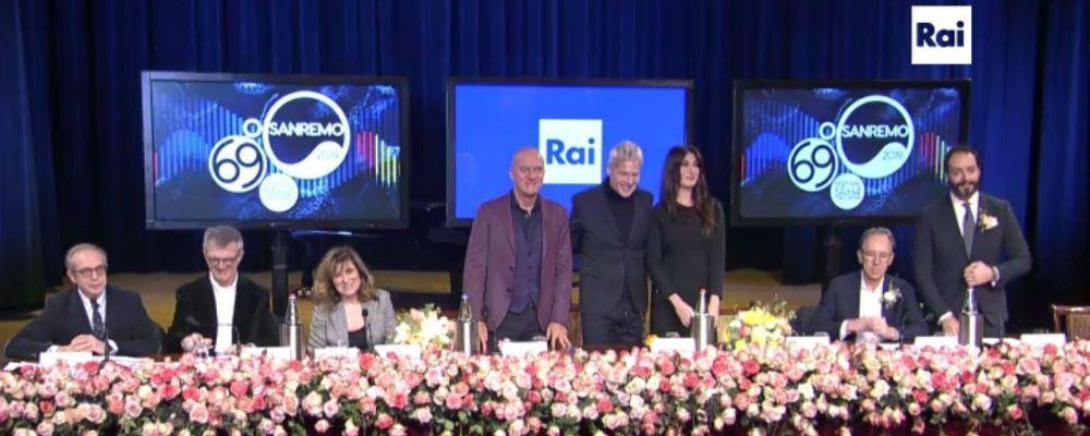 Festival di Sanremo 2019: Virginia Raffaele, Claudio Bisio, Baglioni e forse Checco Zalone come il Quartetto cetra