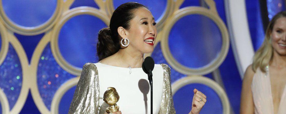 Sandra Oh da conduttrice a vincitrice ai Golden Globes 2019, il trionfo per Killing Eve