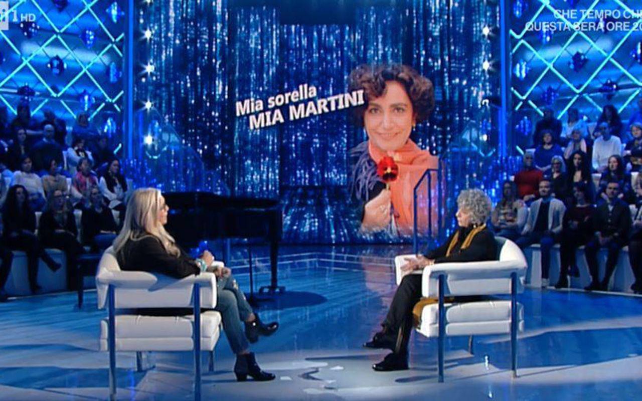 """Domenica In, Olivia Berté: """"Con la maldicenza hanno distrutto la vita di mia sorella Mia Martini"""""""