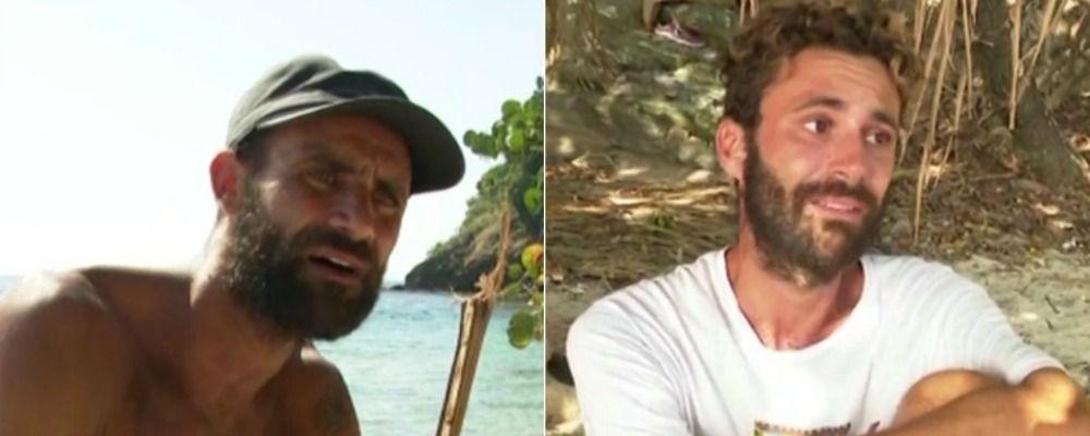 Isola dei famosi 2019, Ghezzal intimorisce Luca Vismara e lo fa piangere