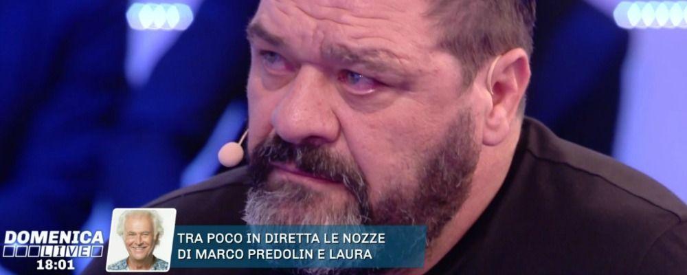 Domenica Live, Franco Terlizzi in lacrime parla della malattia del figlio Michael