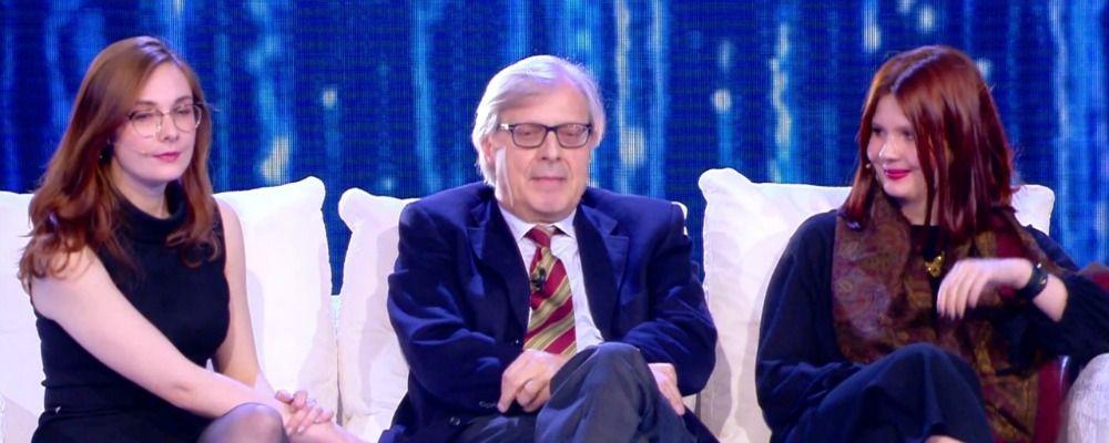 Vittorio Sgarbi presenta le figlie Alba ed Evelina da Barbara d'Urso
